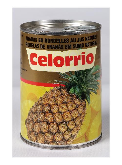 Piña en su Jugo Rodajas Lata 3/4Kg CELORRIO