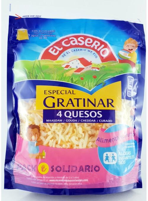 CASERIO RALLADO 4 QUESOS,140GR.