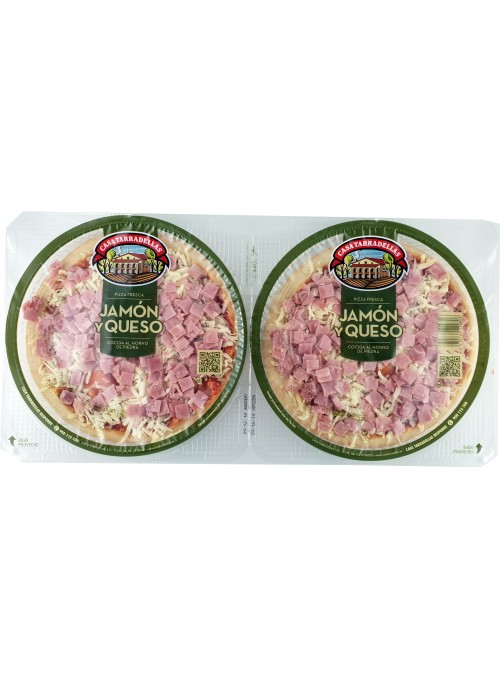Pack Pizza Jamon y Queso TARRADELLAS