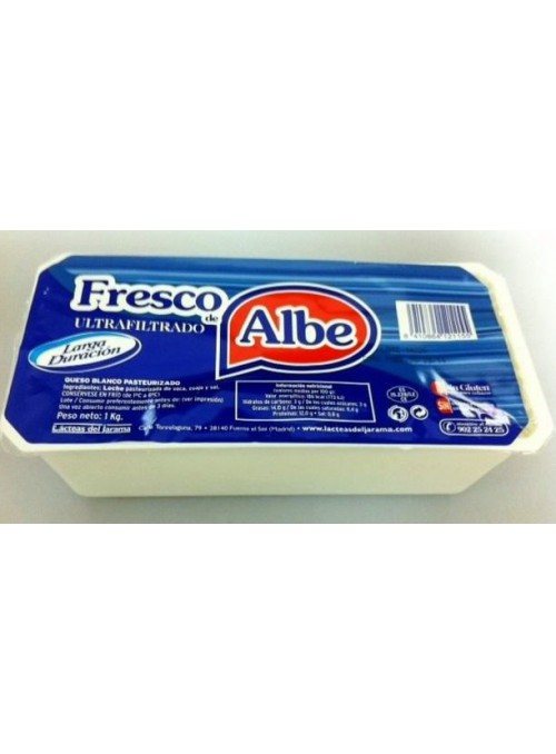 Queso Fresco Ultra filtrado 1Kg ALBE