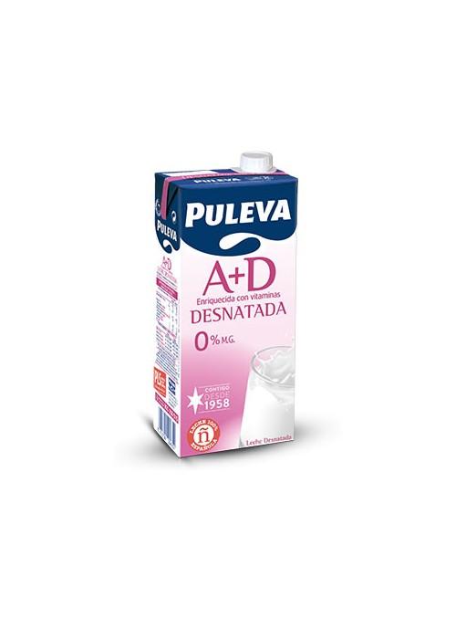 Leche Desnatada A+D Brick 1L PULEVA