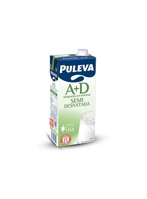 Leche Semi-desnatada A+D Brick 1L PULEVA
