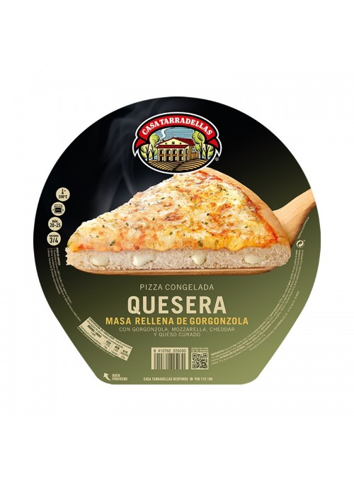 Pizza Congelada Rellena Quesera TARRADELLAS
