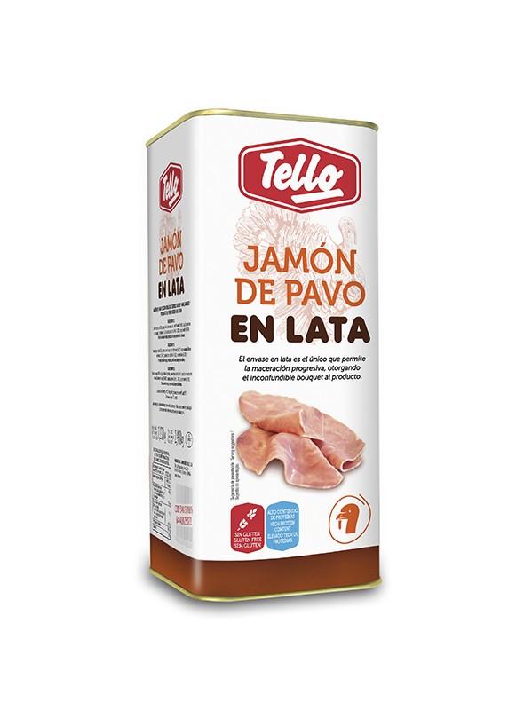 JAMON DE PAVO EN LATA 2.535KG. TELLO