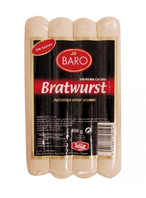 BARO SALCHICHAS BRATWURST NAT.400GR.