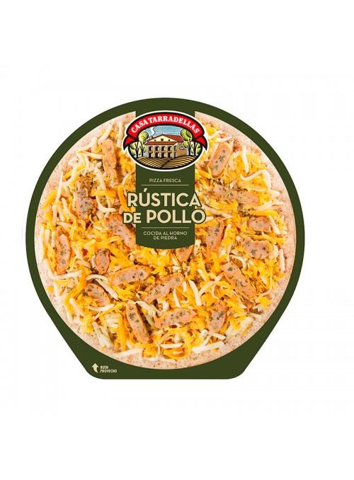 PIZZA F. RUSTICA DE POLLO 410GR.