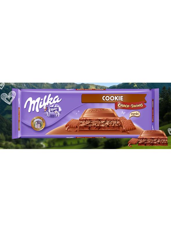 MILKA CHOCOSWING COOKIE 300GR.