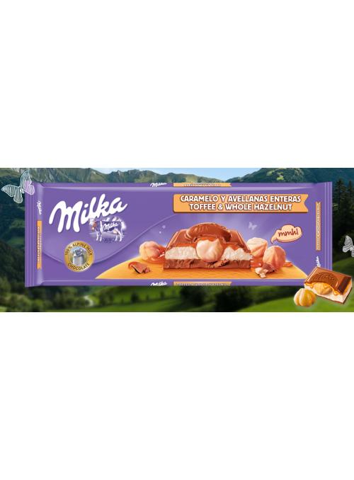 MILKA Caramelo y Avellanas 300Gr